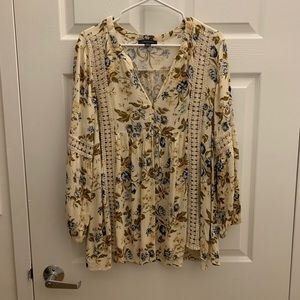 American eagle outfitters floral blouse